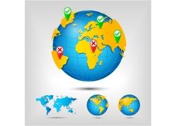 漂亮颜色的地球仪图片