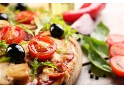 西餐披萨特写