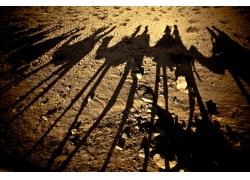 沙漠黄昏骆驼队