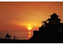 海边日落风景