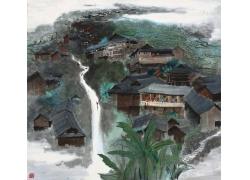山水画和房屋