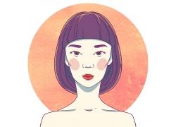 女人美女插画图片
