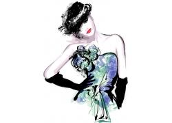 时尚女装模特儿图片