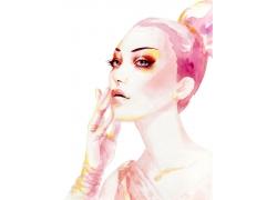 彩妆模特儿图片