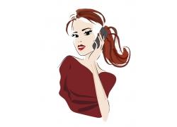 韩式美女插画图片