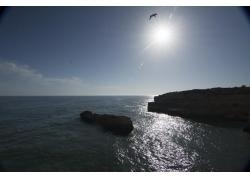 礁石岛屿风景摄影图片