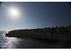 海岸石壁风景摄影图片