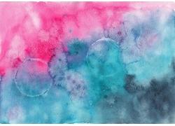 粉色和蓝色的水彩背景