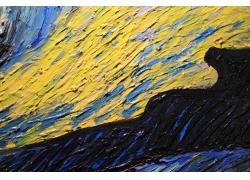 美丽的蓝黄色水彩背景