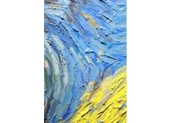 蓝黄色水彩背景
