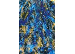 蓝色抽象绘画背景