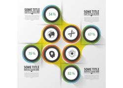 时尚立体圆环信息图表