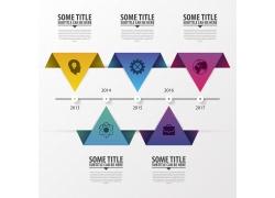 对称彩色三角形信息图表