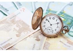 商务金融钱和闹钟