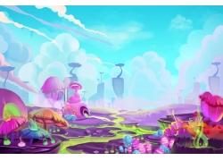 彩色卡通王国