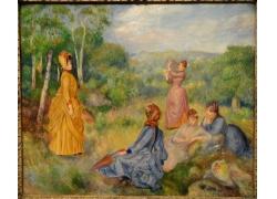 树林中的女孩们图片