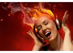 火焰与美女dj师