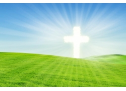 草原上的光芒十字架