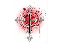 红色闪光十字架