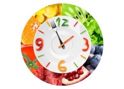 蔬菜水果时间钟表