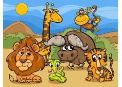 卡通野生动物漫画图片
