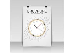 时间钟表宣传单模板
