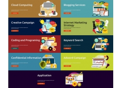 商务金融网页模板