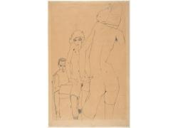 裸女人物素描