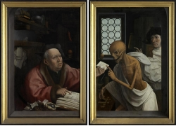 人物和骷髅油画