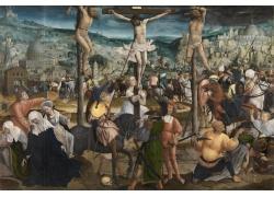 十字架上的人物绘画