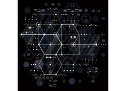 黑色几何图形背景