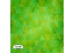 绿色立体三角形的背景