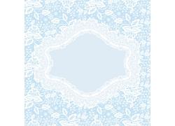 蓝色白色小花背景