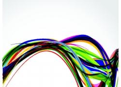 彩色动感线条背景