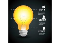 黄色灯泡信息图标