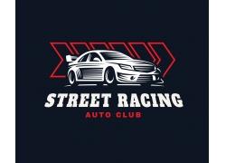 汽车插画logo设计