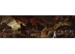 古代人物战争油画