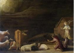 人物和家畜油画