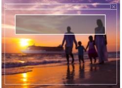 海边家人和对话框图片