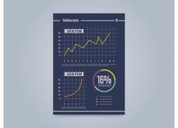 图表蓝色商务海报图片