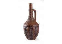 花纹图案古董双耳瓶