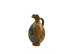 古典美女图案古董双耳瓶