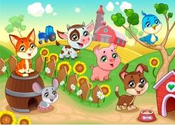 农场的卡通动物漫画图片