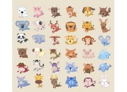 奔跑的卡通动物漫画图片