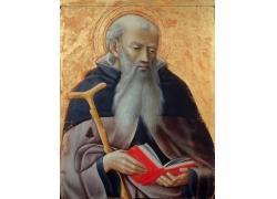翻书看的男人油画