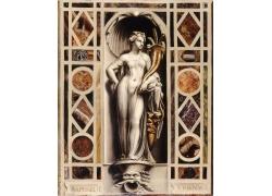 女人雕塑油画