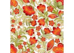 红色小花和绿叶