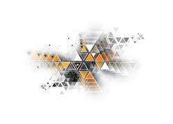 彩色立体三角形的背景