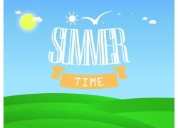 夏日草地背景