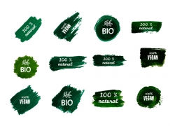 绿色图形和英文的图标